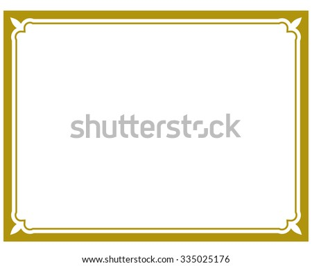 Gold frame border vector - stock vector