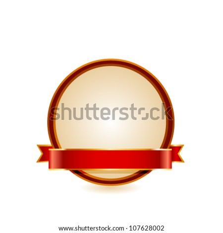 Gold frame. Vector - stock vector