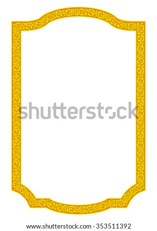 Gold Frame Vintage.EPS10 Vector Frame for Place Text, Picture or Design - stock vector