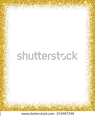 Gold glitter background gold sparkle frame stock vector 353487248 gold glitter background gold sparkle frame template for holiday design invitation party stopboris