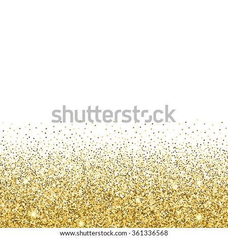 Gold glitter background gold sparkles on stock vector 361336568 gold glitter background gold sparkles on white background creative invitation for party holiday stopboris Images