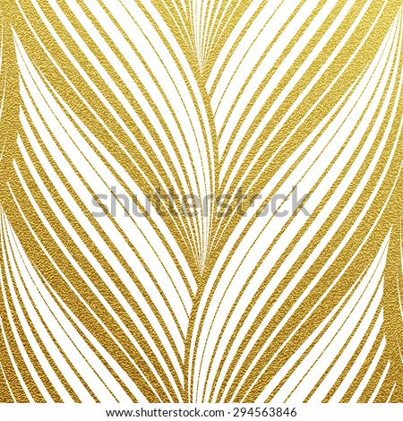 Gold glittering abstract waves pattern. Seamless texture with gold background  - stock vector