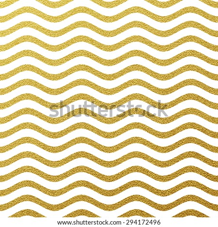 Gold glittering wave background - stock vector