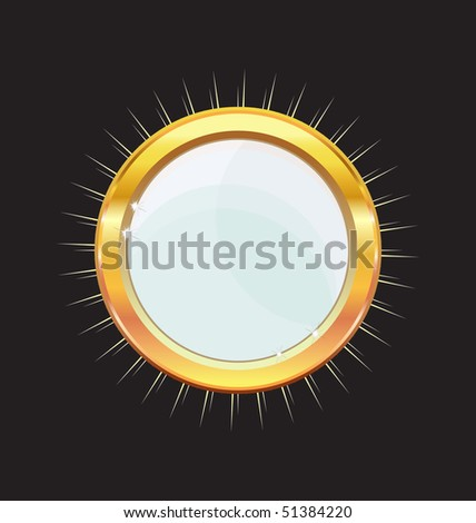 gold glossy mirror - stock vector