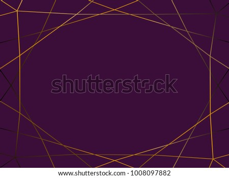 Gold Gradient Glitter Triangles On Purple Stock Vector 1008097882 - Shutterstock