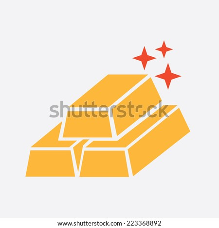 gold graphic design , vector illustration - stock vector