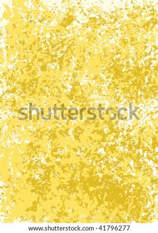 Gold grunge background - stock vector