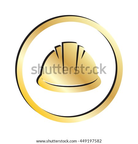 Gold Hard Hat Construction Icon