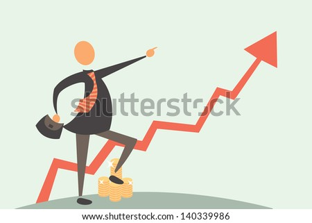Gold Investment - stock vector