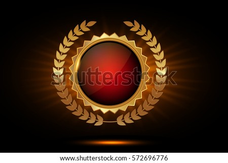 Gold Seal Quality Template Label Award Stock Vector 454869049 - Shutterstock