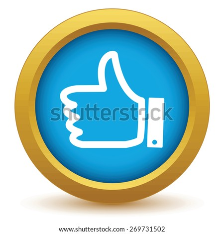 Gold like icon on a white background. Vector illustration - stock vector