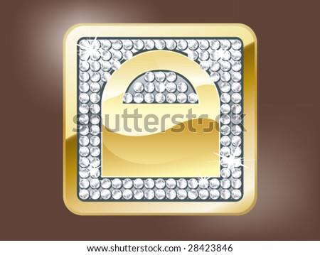 Gold lock button
