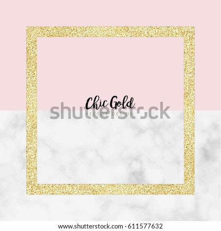Gold Marble Modern Vector Design