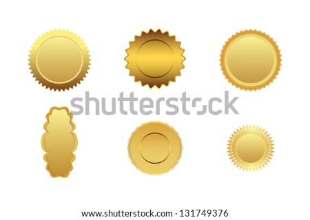 Gold medal - stock vector