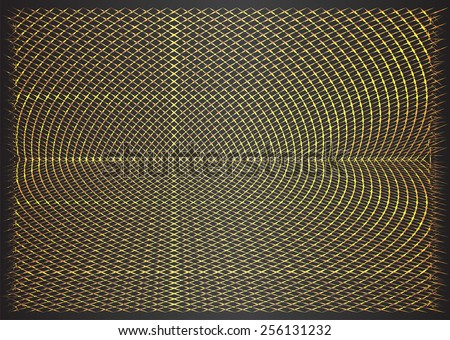 Gold metal mesh Pattern, Vector, illustration. texture. Wire. fence. Abstract Technology background for computer graphic website internet and business. - stock vector