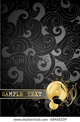 Gold notes on a  background - stock vector