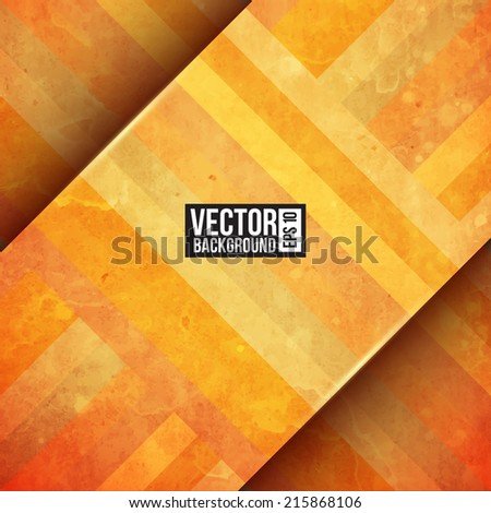 Gold paper stripe background. Retro pattern - stock vector