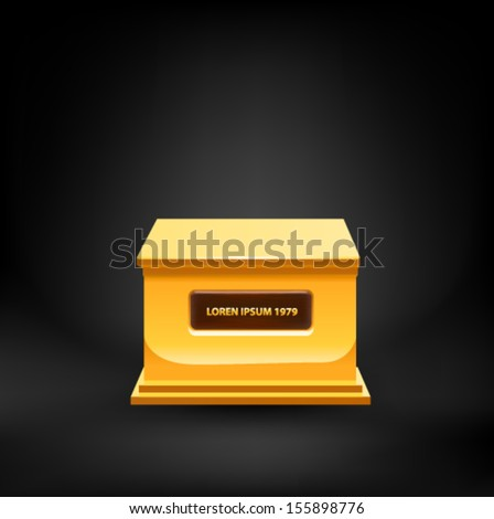 Gold pedestal. Vector - stock vector