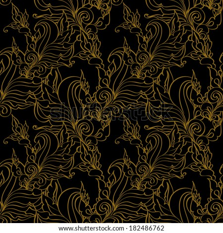 Gold seamless Fashion patterns. - stock vector