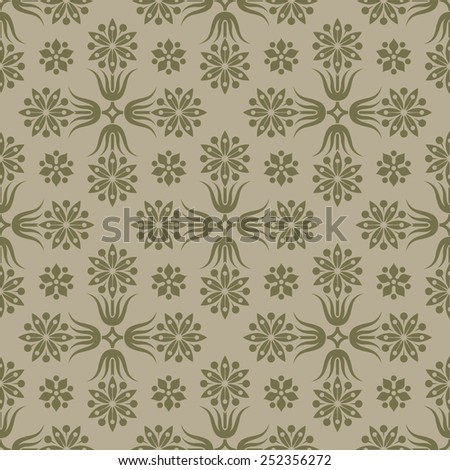 Gold seamless pattern. Floral elements. Background for wallpaper and textile. Editable vector file. - stock vector
