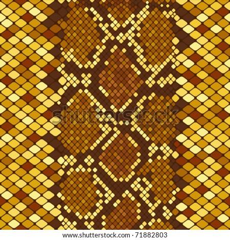 Gold snakeskin - stock vector