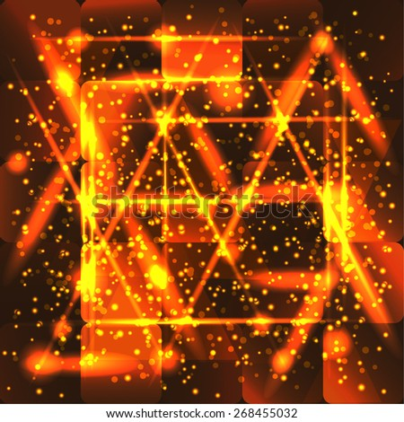 gold square background for your design - stock vector