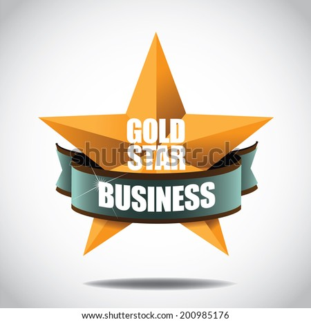 Gold star business icon symbol. EPS 10 vector, grouped for easy editing. No open shape or paths. - stock vector