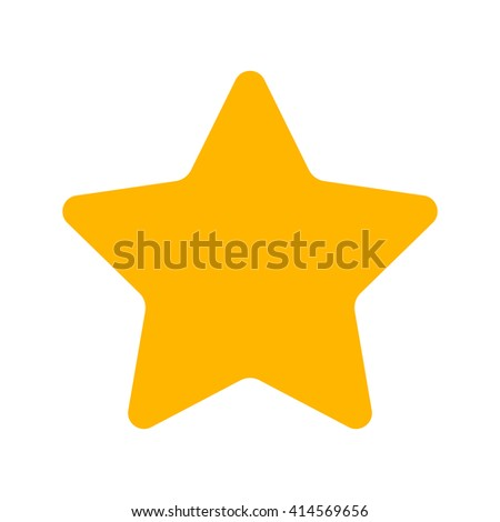 Gold Star icon isolated on background. Modern simple flat favorite sign. Business, internet concept. Trendy vector wish sparkle symbol for website design, web button, mobile app. Logo illustration  - stock vector