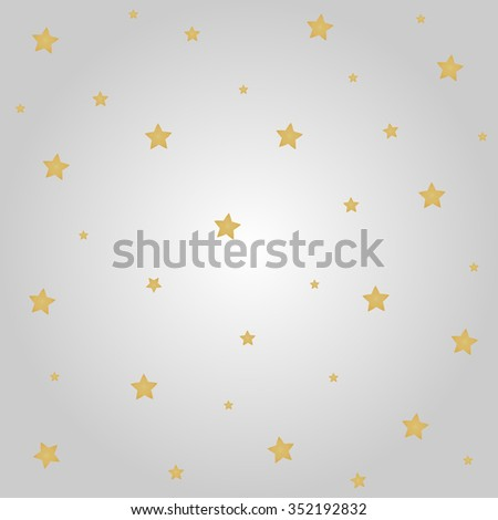 Gold stars with gray background for Christmas festival. - stock vector