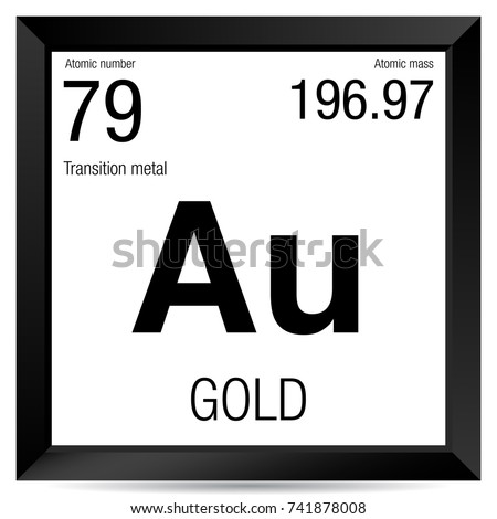 Gold symbol element number 79 periodic stock vector 741878008 gold symbol element number 79 of the periodic table of the elements chemistry urtaz Image collections