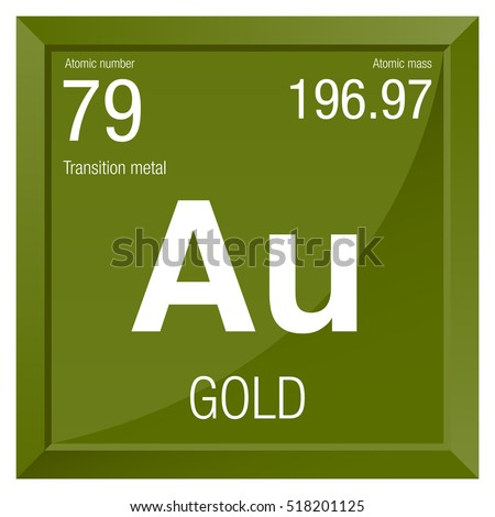Gold symbol element number 79 periodic stock vector 518201125 gold symbol element number 79 of the periodic table of the elements chemistry urtaz