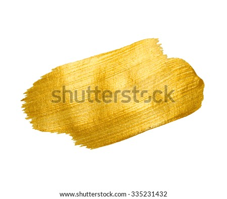 Gold Texture. Brush stroke vector design element. - stock vector