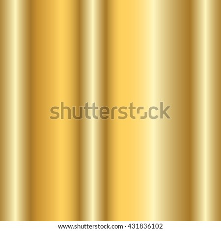 Gold texture. Golden gradient smooth material background. Textured bright metal with light, shiny. Metallic blank backdrop decorative pattern. Abstract art for banner, invitation. Vector Illustration. - stock vector