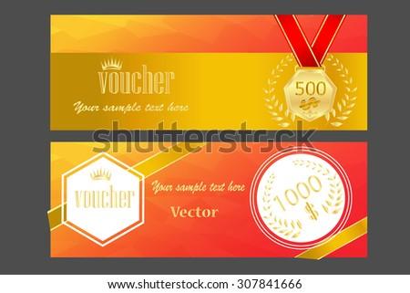 Gold Ticket Voucher Gift Certificate Coupon Vector 307841678 – Ticket Voucher Template