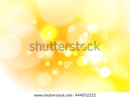 Gold tone abstract bokeh background. Circle concept
