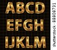Gold Vector Alphabet Set - stock photo