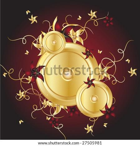 Gold vector disco - stock vector