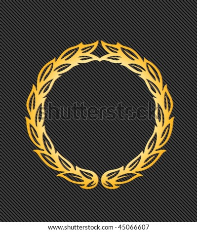 gold vector laurels - vintage sign - stock vector