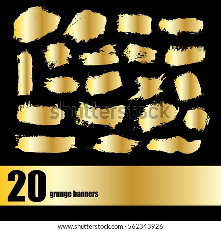 gold vector template set of grunge banners abstract backgrounds for promotion