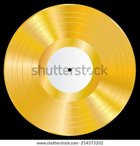 Gold vinyl vector illustration. - stock vector