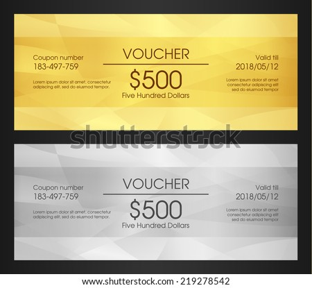 Gold VIP Club Card - stock vector