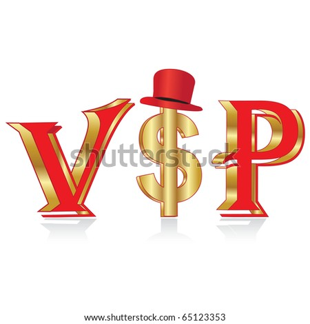 Gold VIP person.Vector - stock vector