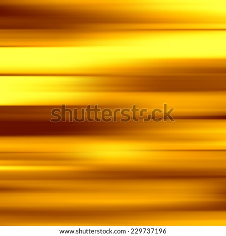 Gold waves background. Metal plate with reflected light. Vector illustration. - stock vector