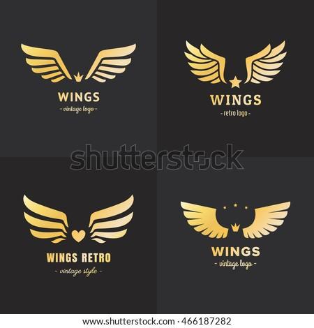 wings logo stock images royaltyfree images amp vectors