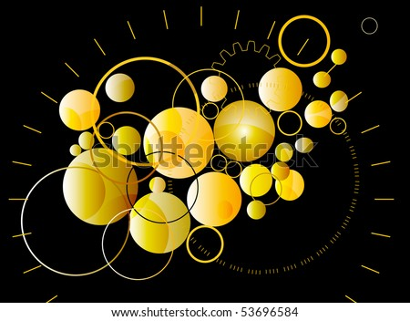 Golden abstract background - stock vector