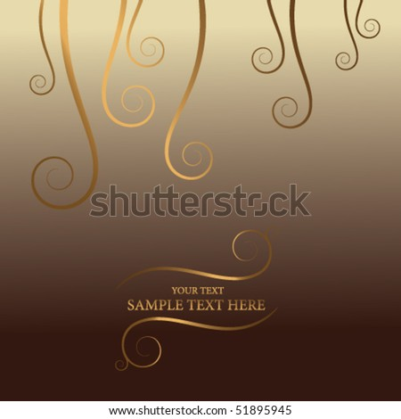 golden abstract background with place for your text