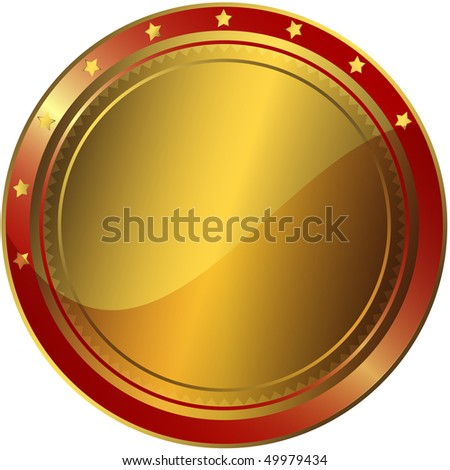 Golden And Red Award (vector EPS 10) - stock vector