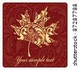 Golden autumn leaf from the flower pattern. Vector illustration eps.10. - stock vector