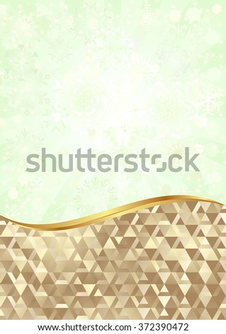 golden background and abstract background divided into two - stock vector