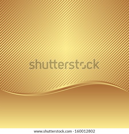 golden background with copy space - stock vector